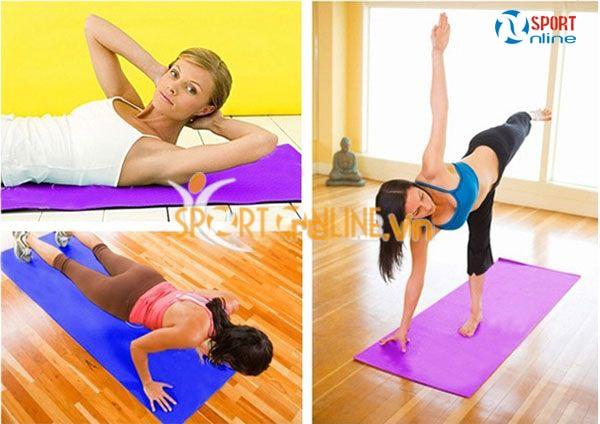 Thảm Yoga hoa văn