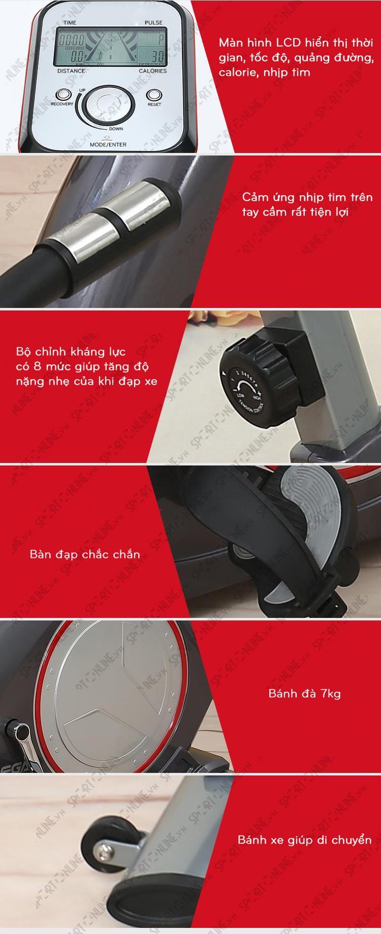 Xe đạp tập phục hồi chức năng YK-B5818R 2