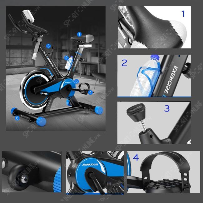 Xe đạp tập thể dục Spin Bike JN55 3