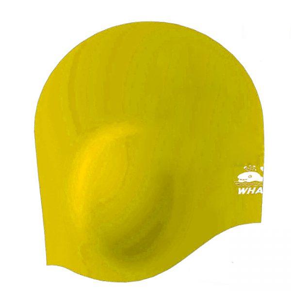 Mũ bơi che tai cá heo màu vàng