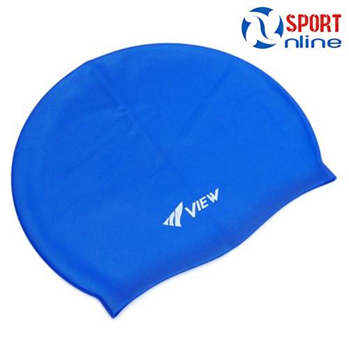 mũ bơi view màu xanh