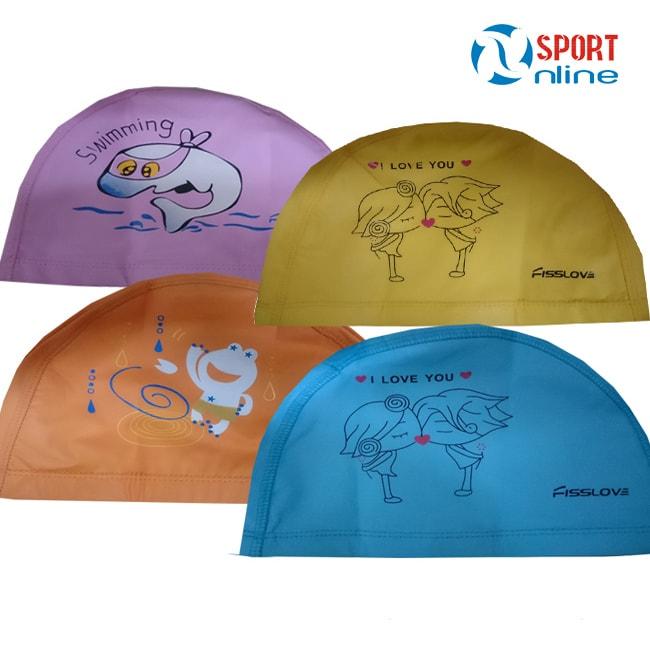 Mũ bơi vải trẻ em