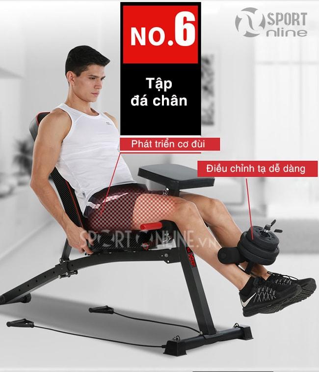 Tập cơ chân trên ghế tập gym đa năng KK-021D