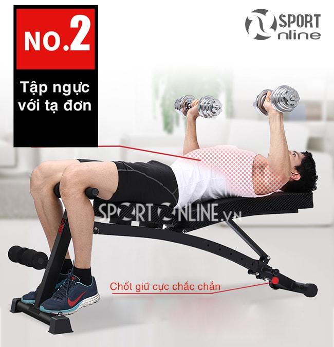 Tập ngực với ghế tập gym đa năng KK-021D