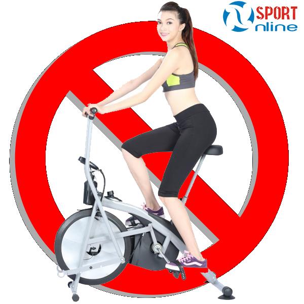 Những sai lầm khi sử dụng xe đạp tập thể dục tại nhà
