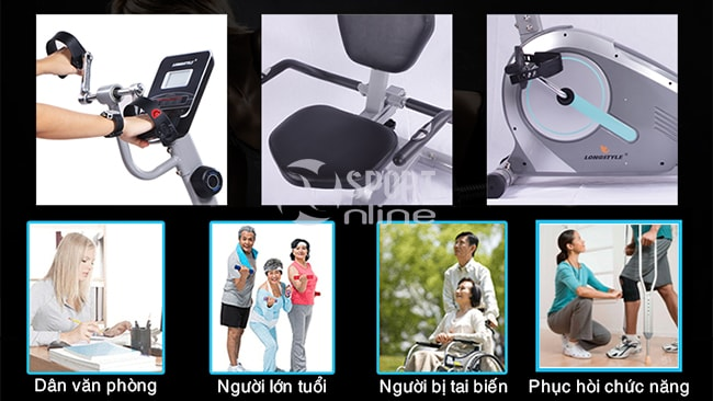 Xe đạp tập phục hồi chức năng BC-51013