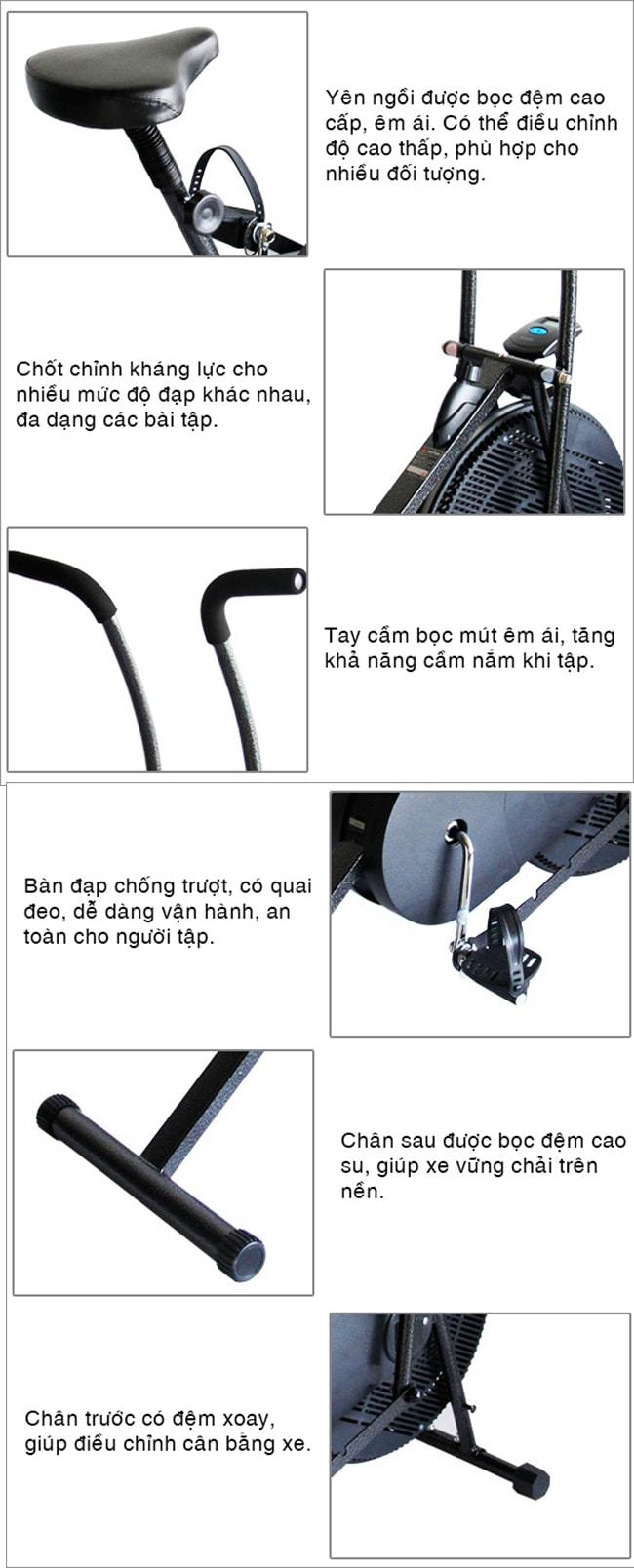 xe đạp tập thể dục Pro Fitness PF-06