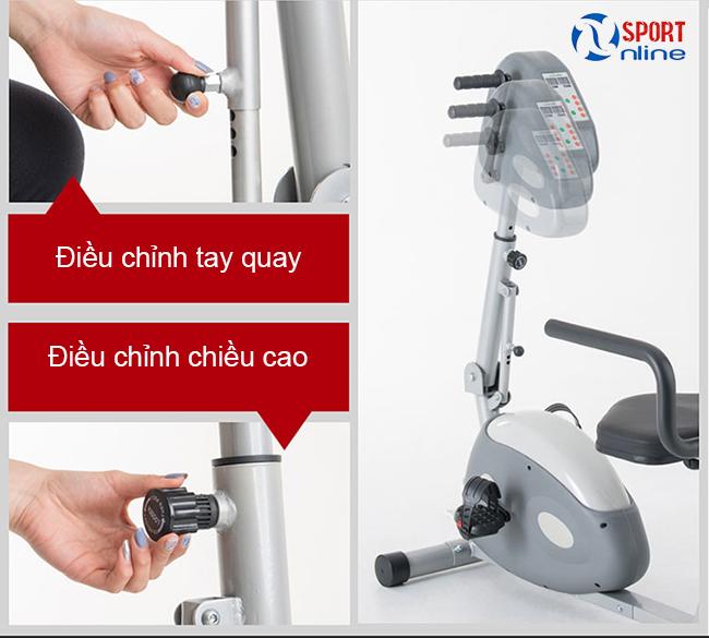 điều chỉnh chi tiết xe đạp Dual E-Bike