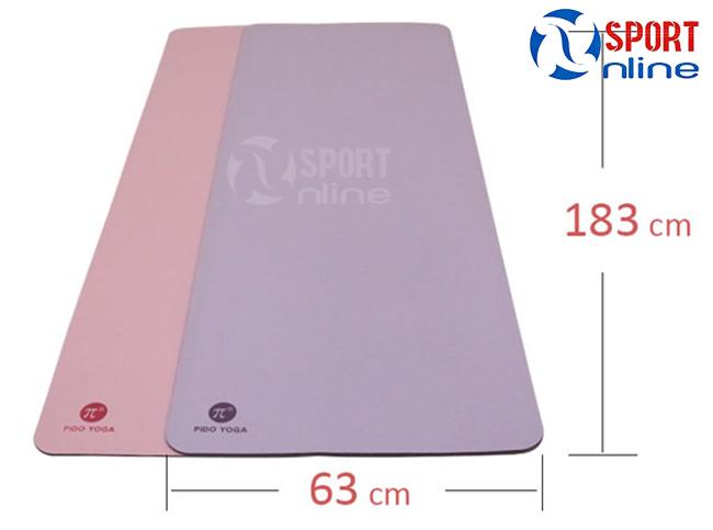 kích thước Thảm tập Yoga Pido