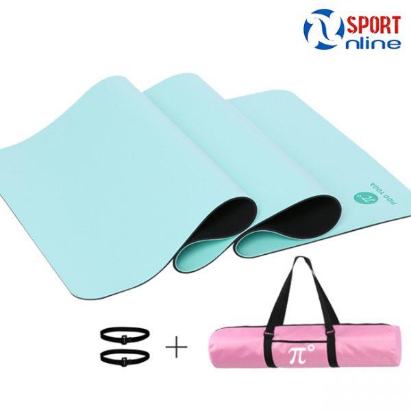 Thảm tập Yoga Pido màu xanh