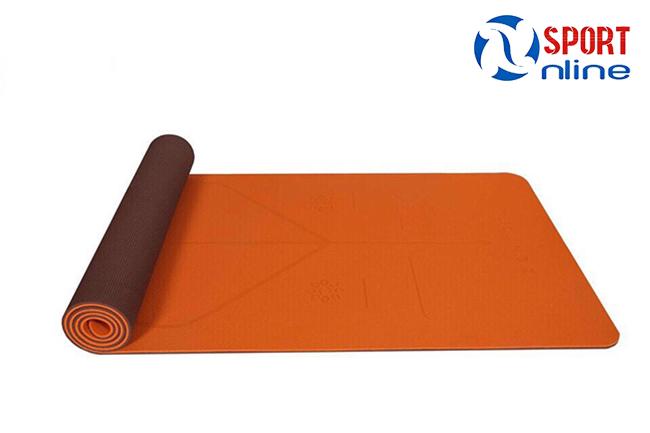 Thảm tập yoga định tuyến Zen Master màu cam