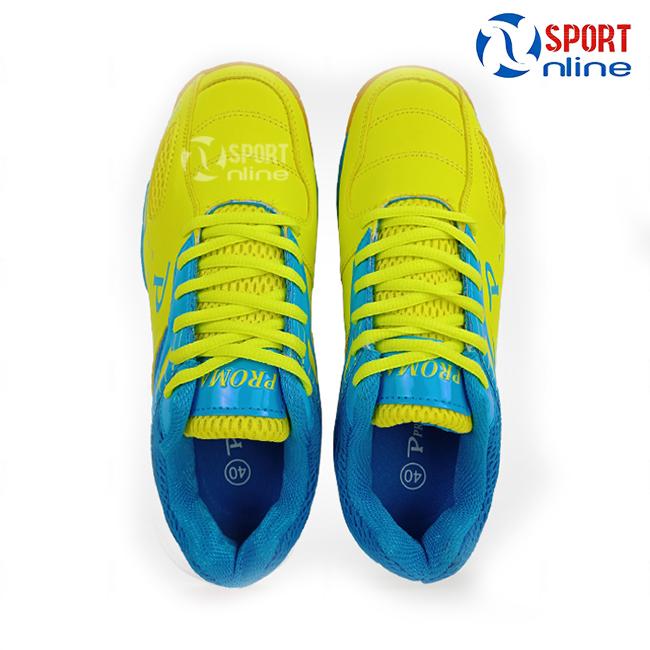 giày cầu lông Promax PR-18018 màu vàng phối xanh