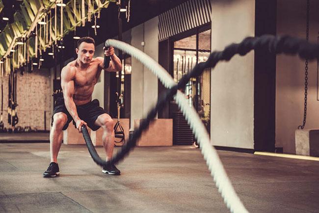 bài tập battle rope