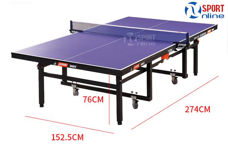 kích thước bàn bóng bàn DHS 1024
