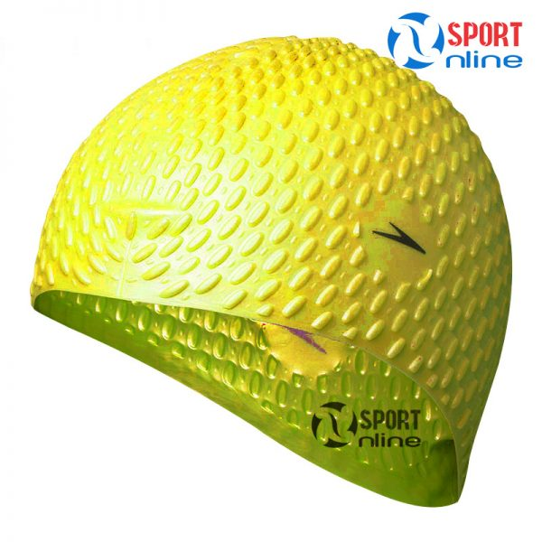 mũ bơi Speedo gai màu vàng