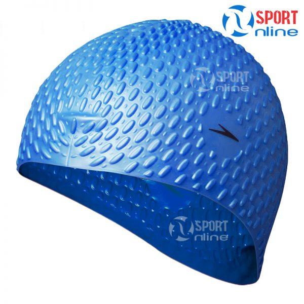 mũ bơi Speedo gai màu xanh