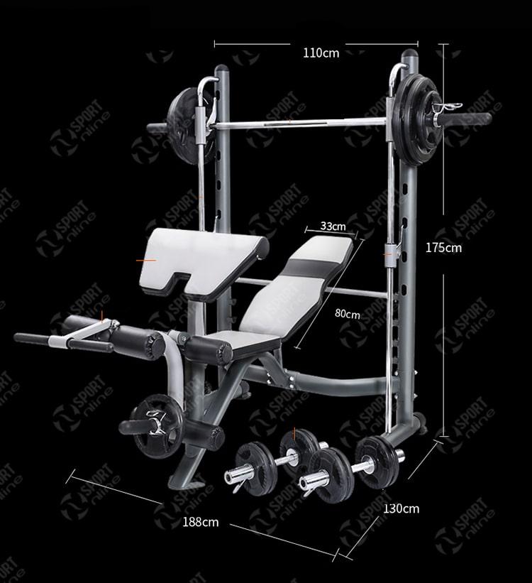 kích thước của ghế tập tạ đa năng Power Rack FX32
