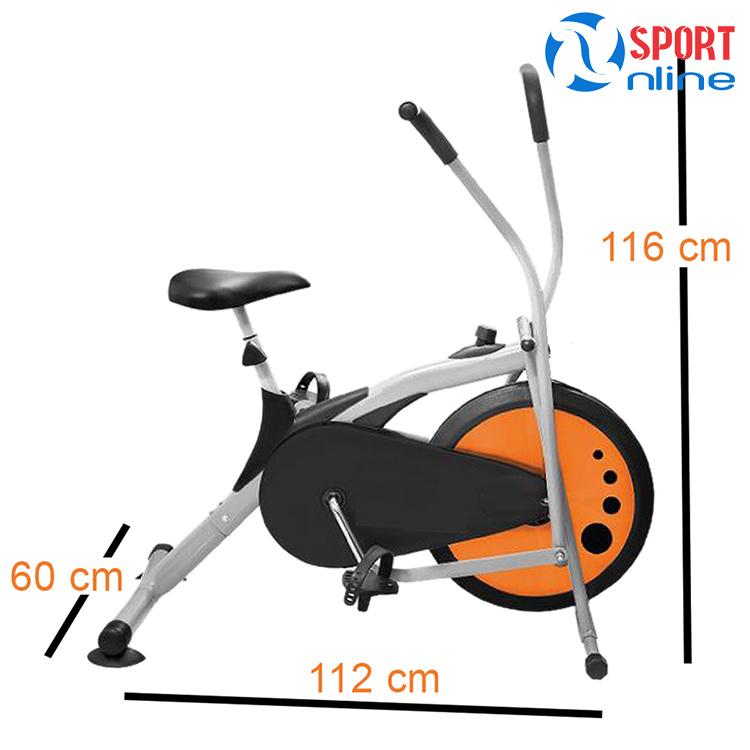kích thước Xe đạp tập thể dục Air Bike MK77