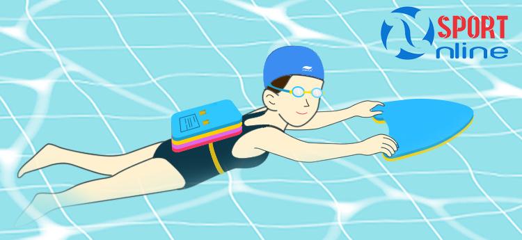 phao tim tập bơi