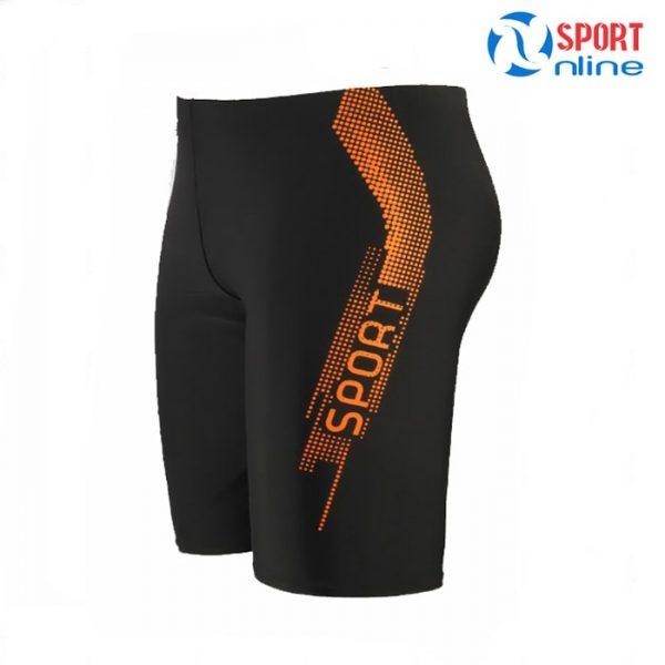 quần bơi nam M-019 màu đen cam