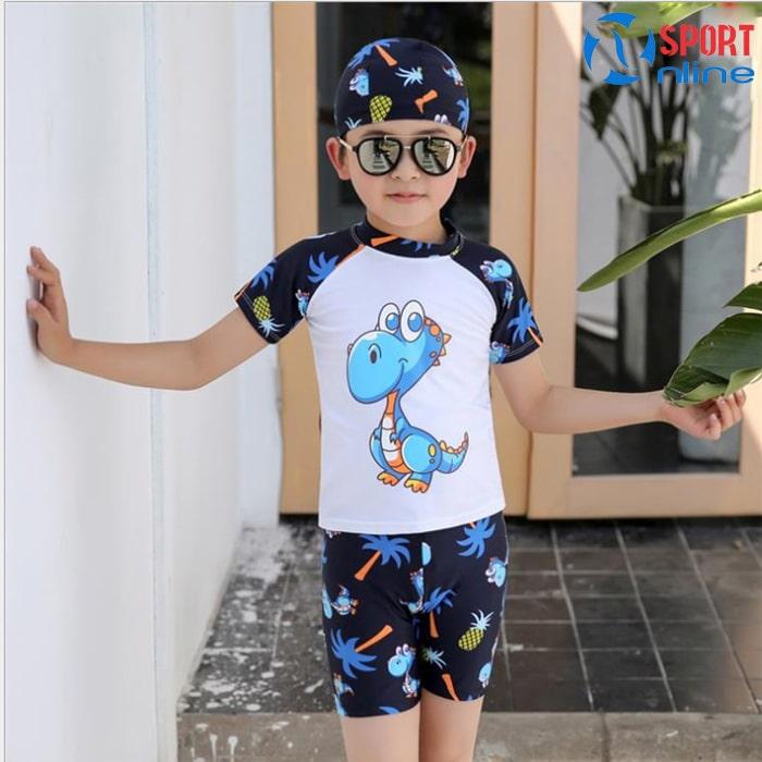 bộ quần áo bơi trẻ em M-818 màu trắng