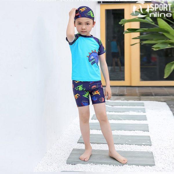 bộ quần áo bơi trẻ em M-818 màu xanh ngọc