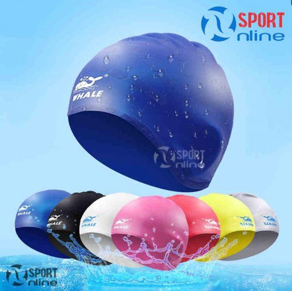 Mũ bơi trùm tai Whale các màu sắc