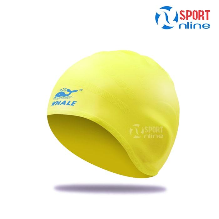 Mũ bơi trùm tai Whale màu vàng