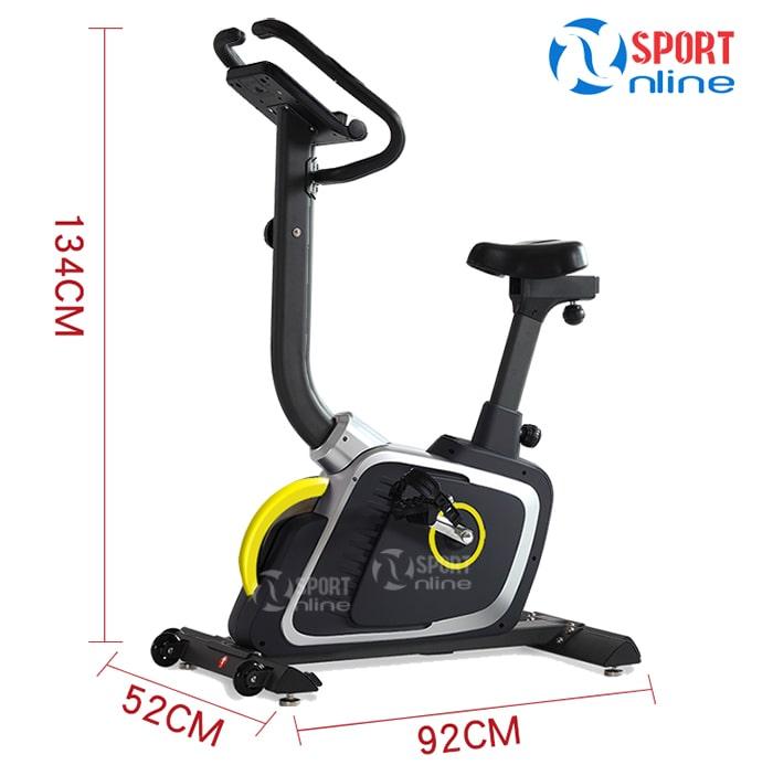 kích thước lắp đặt của Xe đạp tập thể dục DLE-42811B