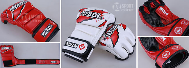 Găng tay MMA Wolon M4 màu trắng
