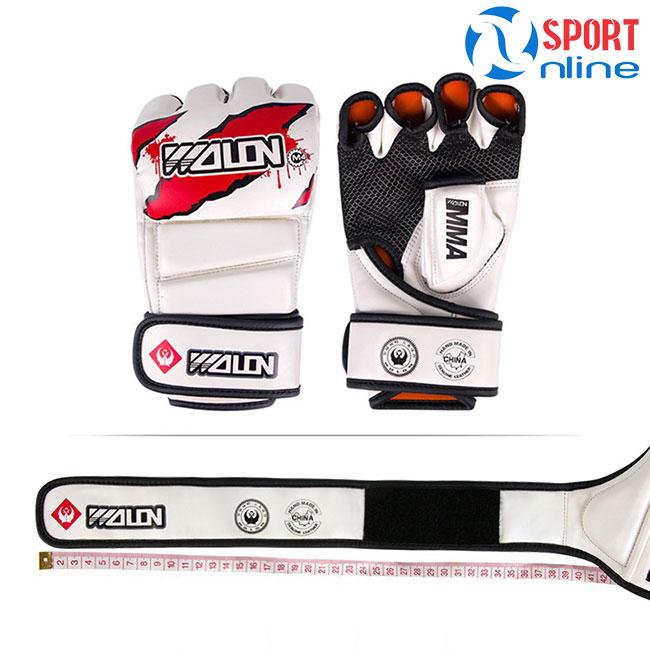 Găng tay MMA Wolon M4 trắng