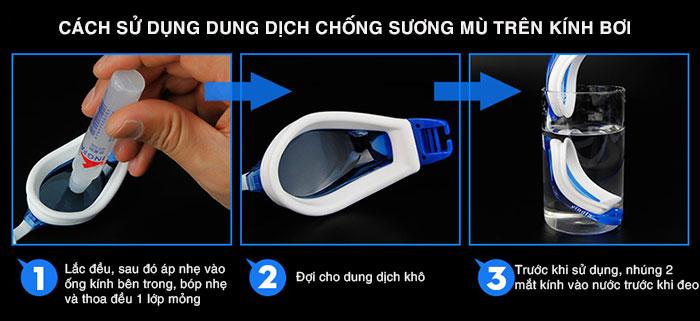 cách sử dụng dung dịch chống mờ kính bơi Yingfa-G7010
