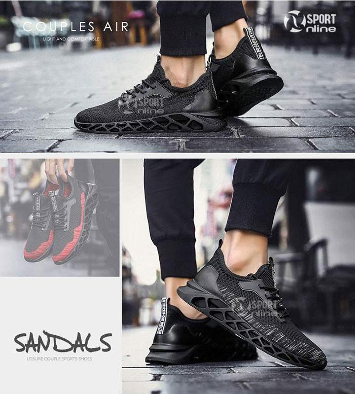 Giày thời trang thể thao nam TD19 đen phối trắng