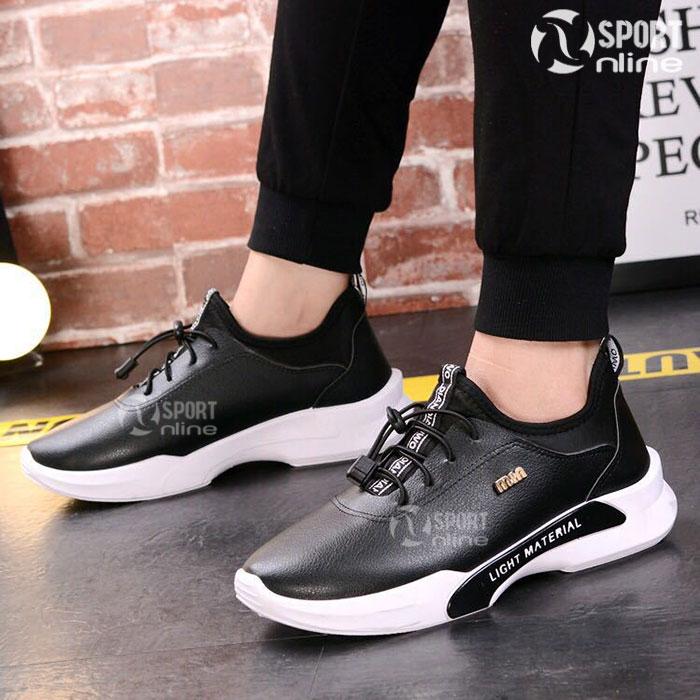 Giày thời trang thể thao nam MIN-01 màu đen
