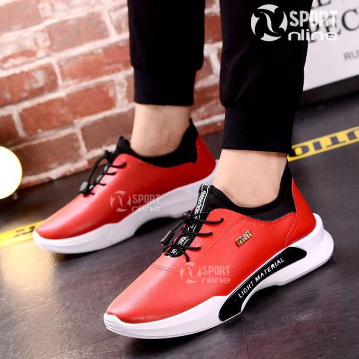 Giày thời trang thể thao nam MIN-01 màu đỏ