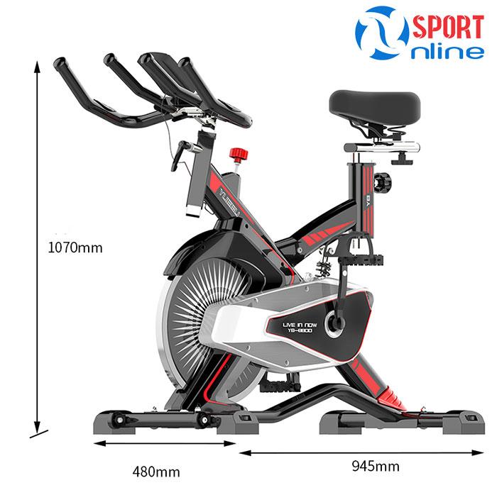kích thước Xe đạp tập thể dục Fuji Luxury M100